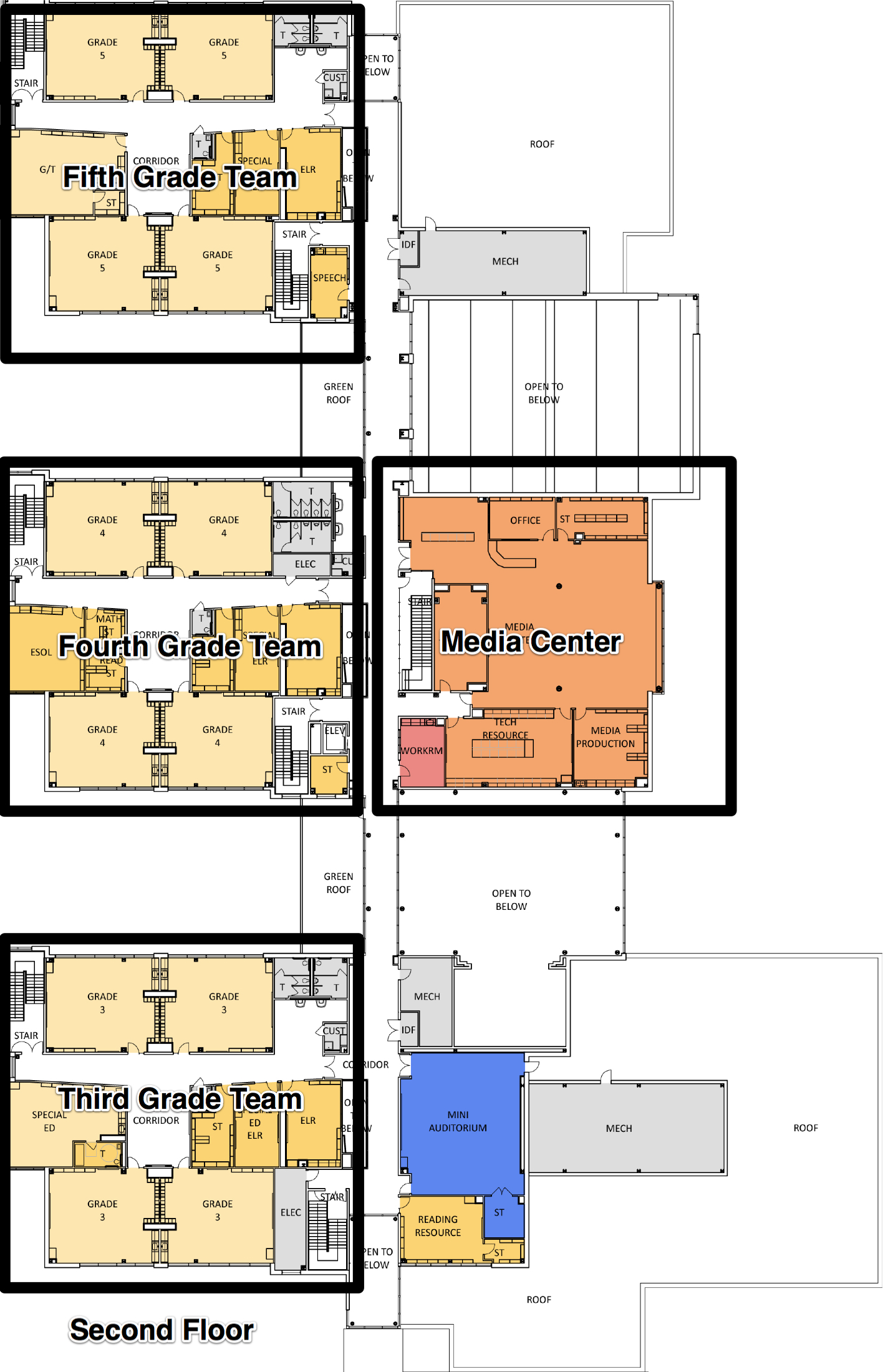 dles second floor map of school