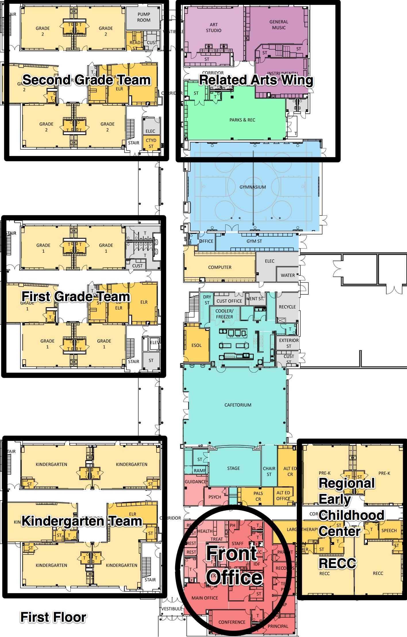 dles first floor map of school